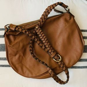 Braided Strap Crossbody Bag